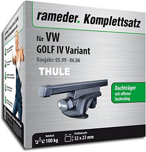 Rameder Komplettsatz, Dachträger SquareBar für VW GOLF IV Variant (115966-01995-24)
