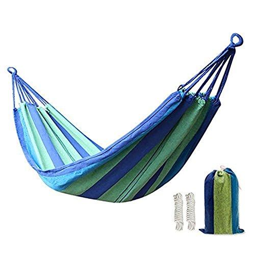 Amaca da giardino in morbido cotone, dotata di custodia a sacchetto, per campeggio, cortile, portico e viaggi