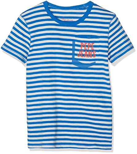 Pepe Jeans Jungen Duke T-Shirt, Blau (Electric Blue 554), 9-10 Jahre (Herstellergröße: 10) - Jeans-jungen-shirt