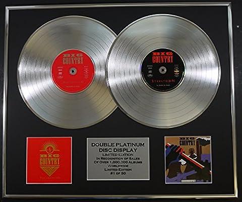 BIG COUNTRY/double CD Platine Disque Record/Edicion LTD/Certificato di autenticità/THE CROSSING & STEELTOWN