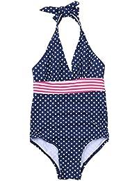 IEFIEL Traje de Baño Lunares Bikini Bañador de Una Pieza Deportivo Body para Niña Vacaciones de Verano