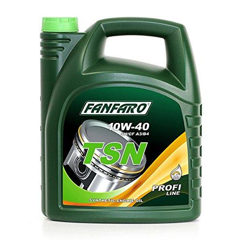 FANFARO 1 x 5L TSN 10W-40 SN/CF/Synthetisches Motoroel ACEA A3/B4 502.00/505.00 229.1 (Synthetisches Motoröl 5 Liter)