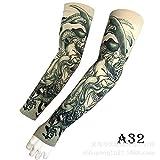 tzxdbh New Guan Gong Tattoo Manica di Ghiaccio Stampa Digitale a 360 Gradi Sport all'Aria Aperta Equitazione Sun Tattoo Sleeve A32 Guan Gong Circonferenza Braccio Braccio Dritto 17-50 cm Disponibile