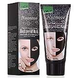 Anti Mitesser Maske Peel Off Maske Blackhead Maske Gesichtsmasken Schwarz, Tiefenreinigung Mitesser Entferner Anti Akne Öl-Kontrolle Purifying, 60g