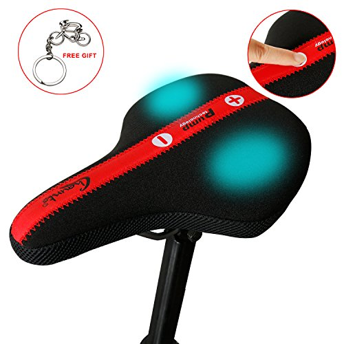 West Biking Silikon aufblasbar Bike Sattel verstellbar erweitern Air SACS Fahrrad Kissen Mountain Bike weiche Sitzfläche für Radfahrer, Herren Kinder damen, Black Saddle