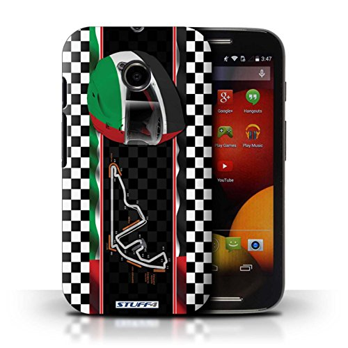 Kobalt® Imprimé Etui / Coque pour Motorola Moto E (2014) / UK/Silverstone conception / Série F1 Piste Drapeau AbuDhabi