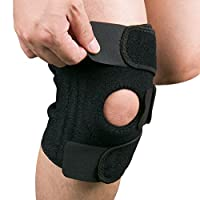 Knee Support, Gvoo Open-patella Stabilizer Knee Brace Pads with Adjustable Strapping for Running, Walking, Cycling, Basketball, Gardening and Knee Safety - Black