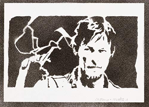 Daryl Dixon The Walking Dead Poster Plakat Handmade Graffiti Street Art - Artwork