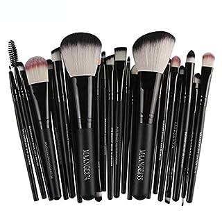 Btruely Makeup Pinsel 20 Pcs Professionelle Kosmetik Make-up Pinsel Set(Schwarz 1)