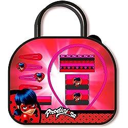 Disney–Ladybug Bolsa 20piezas accesorios cabello, ke8387