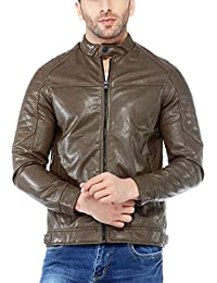 Tinted Men's Faux Leather Jacket