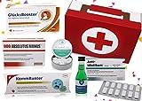 Geburtstag Geschenk | Erste Hilfe Set Geschenkbox, witziger Sanikasten | 8-teilig | Spaßgeschenk/Scherzartikel