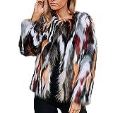Plüsch Mantel Damen,Damen Plüschjacke Winter warme Dicke Jacke Oberbekleidung Jacke Faux Fur Parka Outwear Strickjacke,❤️Binggong Damen Mantel