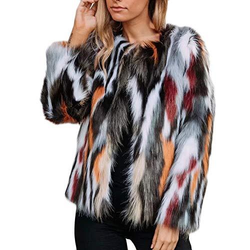 NPRADLA 2018 Herbst Winter Damen Mantel Frauen Warme Dicke Jacke Kunstpelz Parka Outwear Strickjacke