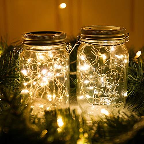 WXD LED-Flaschenlicht im Freien Hof Nachtlicht 2m 20 Batterie oder Solar Lichterketten für Partyhochzeit Weihnachten,A