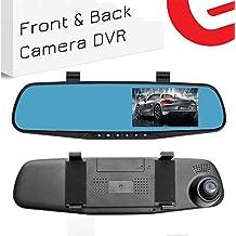 Ezonetronics coche grabadora de vídeo Full HD 1080p | coche vehículos frontal & espejo retrovisor LCD con | de doble lente DVR Grabador de vehículos Dash Cam