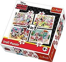 Trefl Çocuk Puzzle Minnie with Friends / Disney Minnie 35+48+54+70 Parça 4 in 1 Puzzle