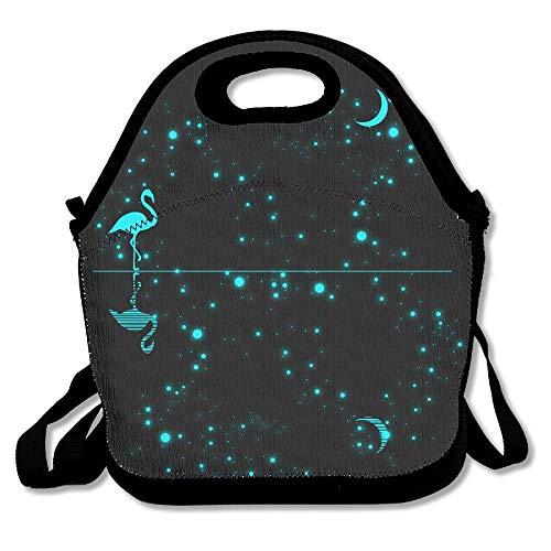Glückliches Halloween-Muster-Mittagessen-Taschen-Taschen-Handtaschen-Lunchbox für die Schularbeit im Freien (Glücklichen Halloween Taschen)
