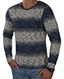 JACK & JONES Herren Strickpullover jorBASS Leichter Pullover Sommer Frühling Herbst Regular Fit (M, Blau (Dark Denim Fit:REG))