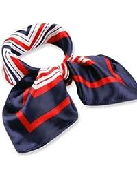 femmes carre echarpe foulard fine en Satin multi-usages bleu marine rouge blanc Plaids 50cm*50cm