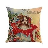 Navidad Fundas De Cojines, Scpink Funda de cojín de cama de sofá de teñido de impresión de Navidad (M)