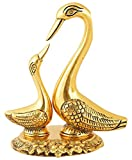 #10: Collectible India Swan Love Birds Couple Statue Decorative Metal Bird Pair Sculpture Romantic Feng Shui Couple Gifts Wedding Gift & Home Decor