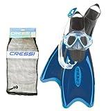 Cressi Tauch und Schnorchelset, blau, 44-47, CA222044