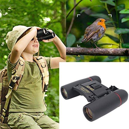 huichang Fernglas 30×60 Ferngläser Klein Kompakt Teleskop Wasserdicht Feldstecher für Kinder mit Tasche und Gurt [Vogelbeobachtung, Jagd, Safari Geräte]