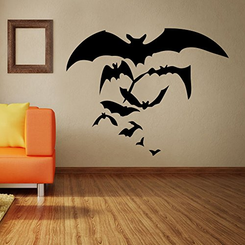 Hccy decorazione halloween parete amovibile posters personalità di pipistrelli soggiorno parete delle camere da letto sono decorate con un adesivo rimovibile ,57x28.5cm pvc