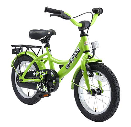 BIKESTAR Kinderfahrrad für Jungen ab 4 Jahre | 14 Zoll Kinderrad Classic | Fahrrad für Kinder Grün | Risikofrei Testen