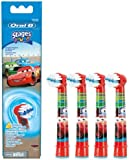 Braun Oral-B Stages Power Kids Stick In Brush Head CARS 4 Pack Brush Heads Children's EB10-4K