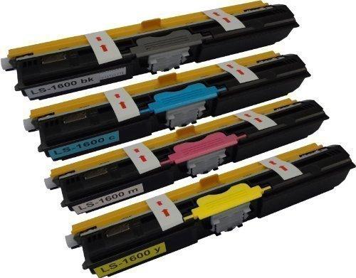 Bubprint 4 Toner-Kartuschen kompatibel für Epson Aculaser C1600 SET Multipack Black, Cyan, Magenta, Yellow