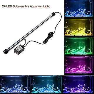12 LED Aquarium-Licht-Kit ABEDOE Beleuchtung Tageslichtsimulator Wasserfest Aquarium Licht für Salzwasser und Süßwasser 24 Tasten RC Fernbedienung