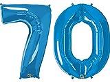 Nr. 70GIANT Folienballon Pack–Saphir Blau 86,4cm