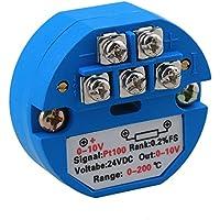 Yibuy DC 24V PT100 Sensor de Temperatura transmisor 0 – 200 Celsius Salida 0 – 10 V