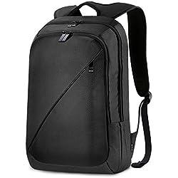 REYLEO Mochila de Portátil de Segunda Generación Hasta 15,6 Pulgadas Backpack Impermeable Para Ordenador del Negocio Trabajo Diario Viaje - 26L Negro