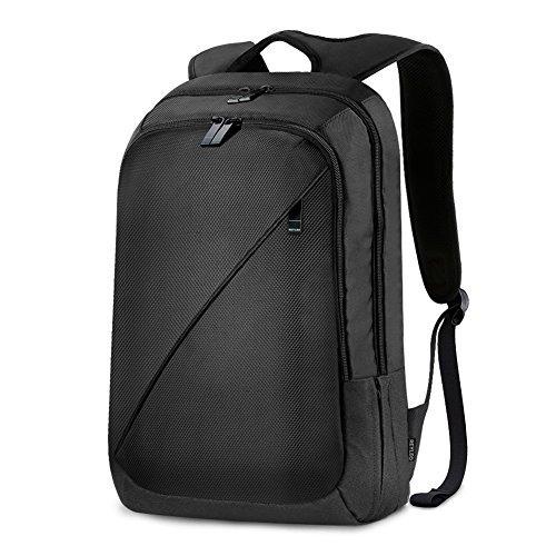 Foto de REYLEO Mochila de Portátil de Segunda Generación Hasta 15,6 Pulgadas Backpack Impermeable Para Ordenador del Negocio Trabajo Diario Viaje - 26L Negro RB01 PLUS