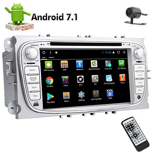Kostenlose Backup-Kamera inklusive! EINCAR-neueste Ankunft !! In Dash Doppel-DIN-Autoradio Android 7.1 System 8-Core in Schlag-Auto-DVD-Spieler für Ford S-max Fokus Galaxy Autoradio Bluetooth Wifi 3G 4G 1080p