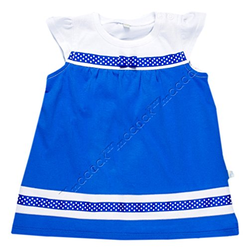 Babykleid Sommerkleid weiß blau Modell Saphir Nr. 3 (86)