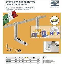 Staffe mensole supporti PRO per climatizzatore condizionatore da 12000 a 36000 BTU MADE IN ITALY cert. TUV clima.