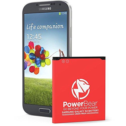 Batteria Compatibile per PowerBear Samsung Galaxy S4 | 2,600 mAh Batteria Li-Ion per Galaxy S4 [I9505] | Batteria Sostitutiva S4 [24 Mesi Di Garanzia]