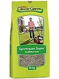 Classic Green Rasensaat Sportrasen Super Rasensaat 10kg| Grassamen | Rasensamen 10kg | Premium Rasensaat | Rasensaat Sport und Spiel Super | Rasensaatgut | Rasensaat Sport Super| Sportrasen Super