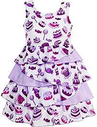 Mädchen Kleid Kuchen Süßigkeit Layered Tüll Lila
