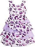 Sunboree Mädchen Kleid Kuchen Süßigkeit Layered Tüll Lila Gr.134