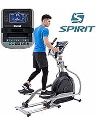 Spirit Elliptical XE 795 - Bicicleta elíptica, Cross Trainer con sensores de pulso de mano, ergómetro, cardio fitness