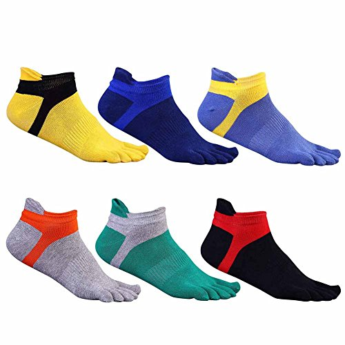 Plain Low-cut (Qlan Cotton Herren Sports Five Finger Toe Socken Atmungsaktive Socken)