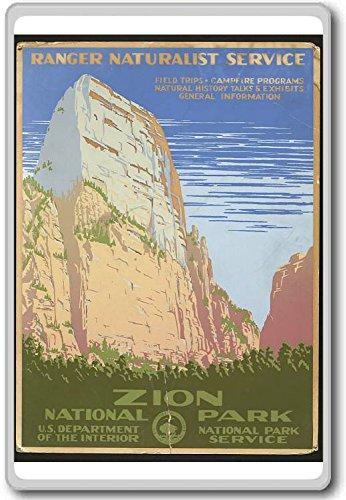 Zion National Park, USA - Vintage Travel Fridge Magnet - Kühlschrankmagnet