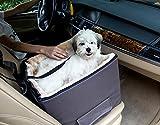 Petsfit voiture rehausseur d'animal avec ceinture attachée, en toute sécurité et confort canapé pour voyager, lavable en machine détachable toison couverture, gris clair, chiens et chats devant le siège d'animaux pour regarder, 40 cm x 38 cm x 35cm (Petit)