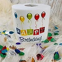 "Personalised Hilarious""Happy Birthday"" Toilet Paper Roll Novelty Fun Gag Gift Present~Anniversary~Birthday~Butt~Boyfriend~Girlfriend~Mom~Dad~Wedding, Emergency Use Only"