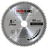 Saxton TCT Circular Wood Saw Blade 210mm x 80T fits Evolution Rage Saws